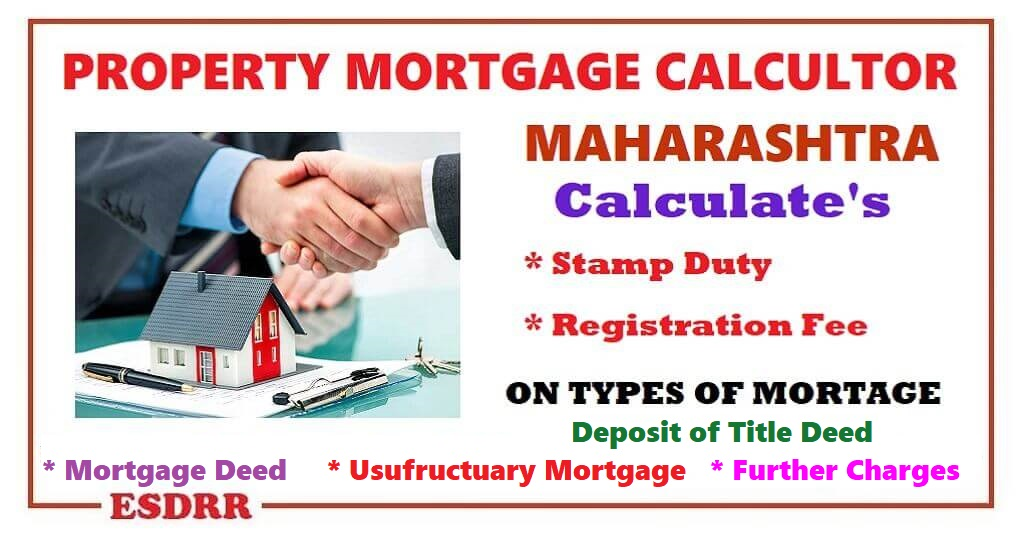 Mortgage Stamp Duty Calcultor Maharashtra